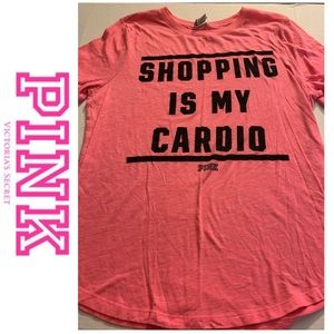 💗USED PINK VS T-SHIRT SIZE LRG FIT 12/14 FIRM $💗